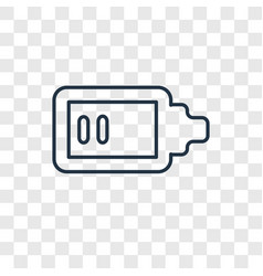 low battery concept linear icon isolated on vector image
