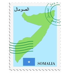 mail to-from Somalia vector image