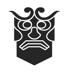 Mask totem iconblack icon vector