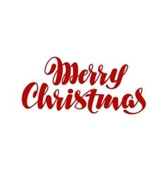Merry Christmas handwritten lettering vector