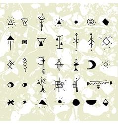 Mystical signs and symbols vector