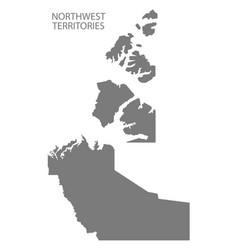 Northwest territories canada map grey vector
