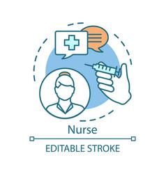 nurse concept icon medical treatment idea thin vector image