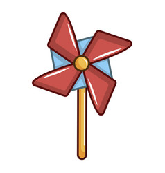 Pinwheel toy icon cartoon style vector
