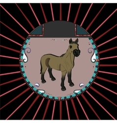 Portrait of a horse vector
