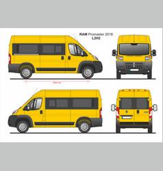 Ram promaster passenger van l2h2 2018 vector
