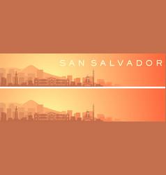 San salvador beautiful skyline scenery banner vector