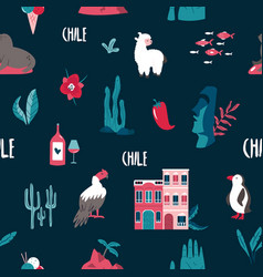 seamless pattern with famous landmarks and symbols vector image