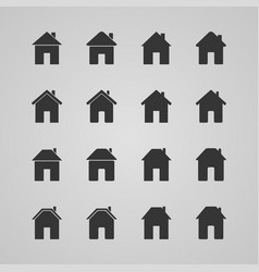 Set houses icons vector