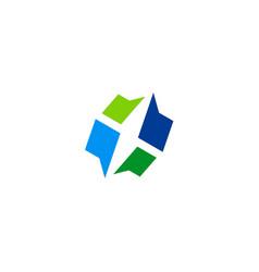 shape abstract company logo vector image