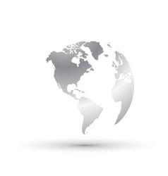 silver world earth globe business concept america vector image