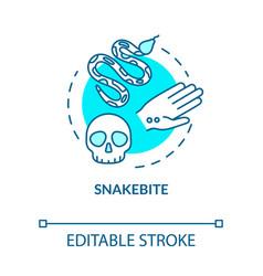 Snakebite bitten wound concept icon poisonous vector