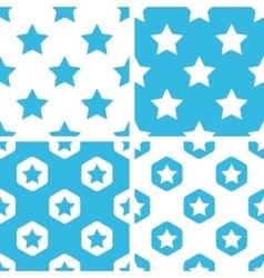Star patterns set vector