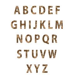 Texture parquet font vector