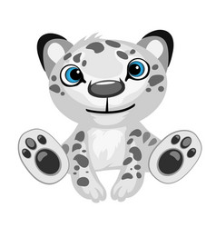 Toy black-and-white leopard cartoon isolated vector