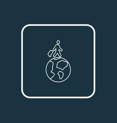 travelling icon line symbol premium quality vector image
