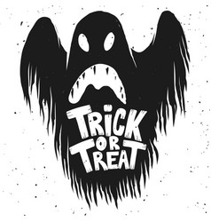 trick or treat scary ghost on white background vector image vector image