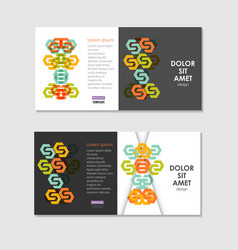 two business brochure design layout template with vector image
