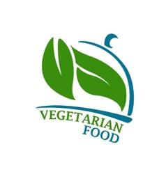 Vegetarian restaurant symbol vector
