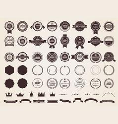 vintage badges emblem premium luxury logo vector image