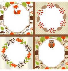 Woodland Cards vector image