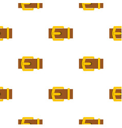 Yellow metal belt buckle pattern flat vector