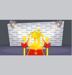 cinema movie horizontal banner wall cartoon style vector image