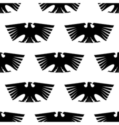 Seamless pattern of Imperial eagle vector image vector image