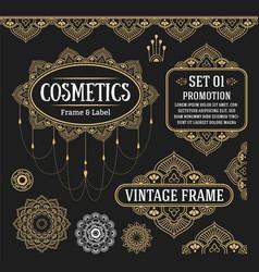 set of retro vintage graphic design vector image