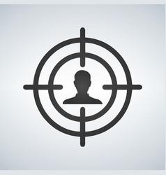 sniper scope crosshair aiming man vector image