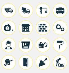 architecture icons set collection of lifting hook vector image vector image