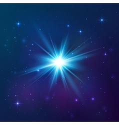 Blue shining star vector