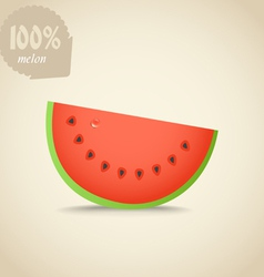 Cute fresh red water melon vector image
