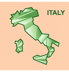 Digital italy map with abstract green vector image