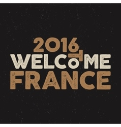 France europe 2016 Football typography label vector image vector image