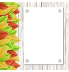 Leaves template vector