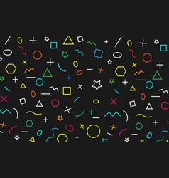 math pattern on black background color symbol vector image vector image