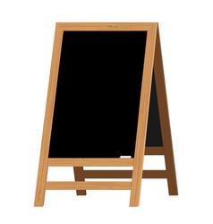menu black board vector image