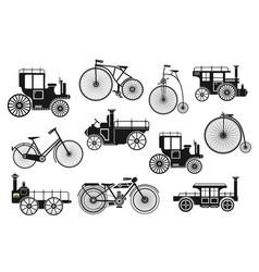 retro motorcycle bike vector image