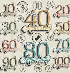 Set of vintage numbers vector image