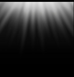 white light effect sun rays beams on black vector image vector image