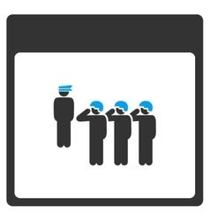 Army squad calendar page toolbar icon vector