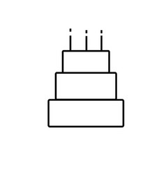 big cake icon vector image