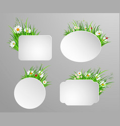 green grass frame with copy space vector image
