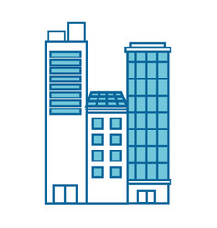 isolated city buildings vector image
