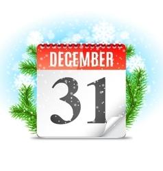 New Year Day Calendar vector image