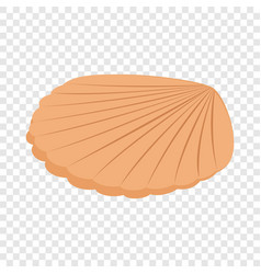 pearl shell isometric icon vector image vector image