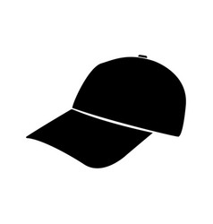 baseball cap black color icon vector image vector image
