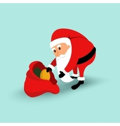Cartoon Santa Claus sitting on a chair and read a vector image vector image