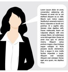 explaining business woman illustration vector image